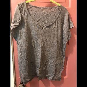 MADEWELL Ladies Grey V Cut T- Shirt